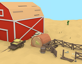 Low Poly Western Pack 3D model