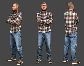 Stylized Man Character 3D model casual