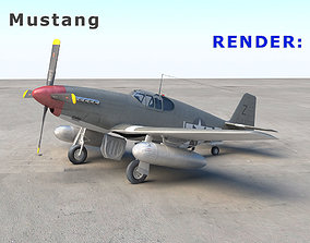 P-51 Mustang 3D model animated