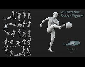 3D model 25 Soccer player figure