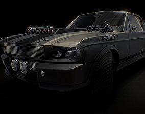 3D model Mustang GT 500 war machine
