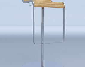 Curved Bar Stool 3D model