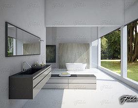 3D model bidet toilet Bathroom