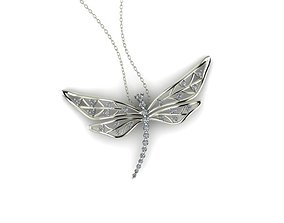 Dragonfly pendant jewelry 3D print model