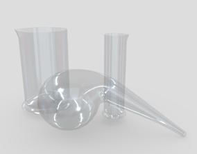3D model Laboratory Flask 2