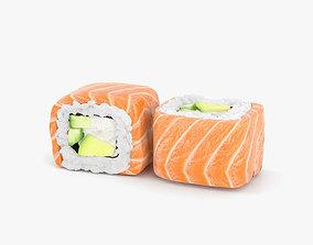 3D model Sushi Philadelphia Roll