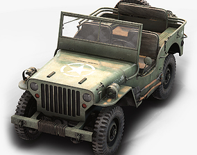 3D model Jeep Willys Low Poly