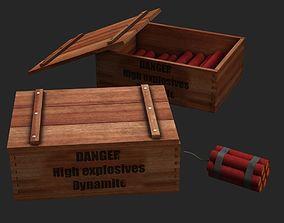 dynamite detonation 3D model
