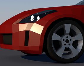 3D Nissan 350Z Low-Poly