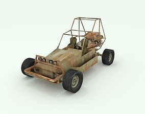 3D asset Rusted postapocalyptic buggy