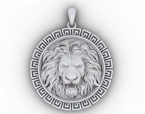 3D printable model pendants lion pendant