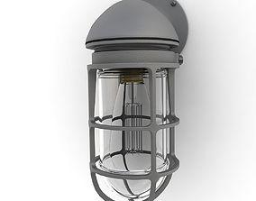 3D model Retro Industrial Lamp 09