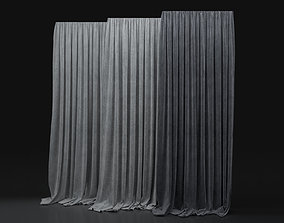 3D model Curtain Blue-26