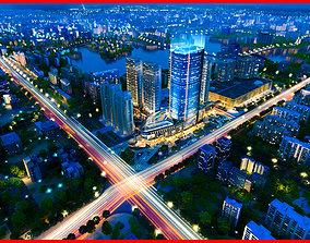 Modern City Animated 073 3D