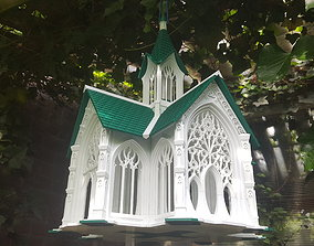 3D print model Bird House Cathedral style