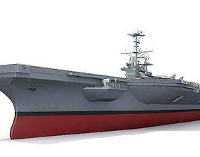 watercraft 3D model Aircraft carrier