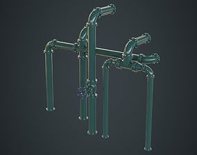 3D model Industrial Pipes 2A