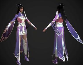3D asset Chinese beauty Woman Female pretty girl 3