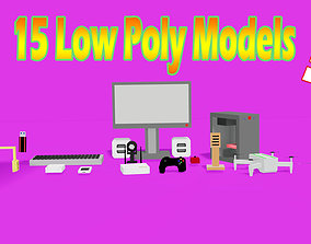 3D model SimplePoly Technological equipments Pack