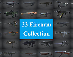 3D asset 33 firearms collections