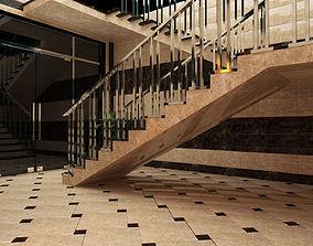 3D asset Holl Stair Lift Qlobusinsaat