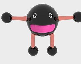3D asset Sphere Steel Character