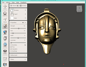 fritz 3D print model MARIA Metropolis Robot head