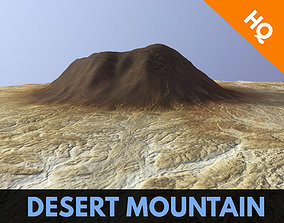 3D model Desert Mountain Africa Landscape Dunes PBR Low 2