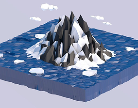 3D model Low Poly Iceland
