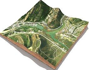 Mountain landscape Mtskheta in Georgia 3D model