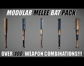 3D asset Modular Melee - Baseball Bat Pack