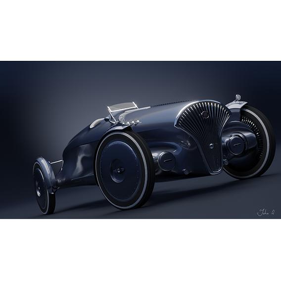 retro electric car