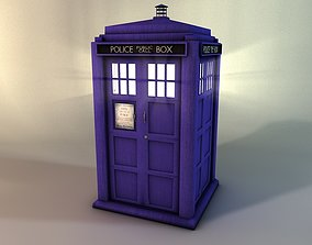 3D asset low-poly Police box The Tardis