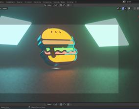 3D light burger