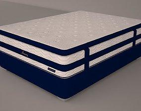 bedroom High polygon mattress 3D