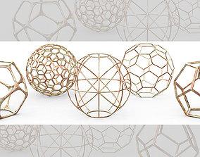 3D model Geometric Decor Objects - Sphere Frames