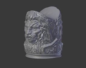 Lion Head Cigar Stand 3D Model