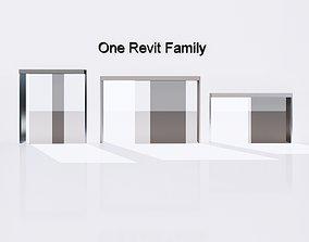 Sliding door exterior - Full parametric Revit 3D model