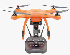 3D model Animated Drone Autel Robotics and animated 2