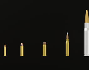3D model 5 Bullet Collection