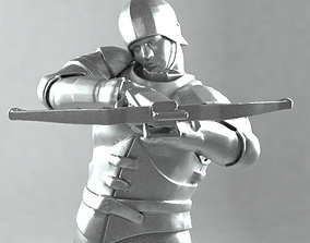 3D printable model Crossbowman later middle ages