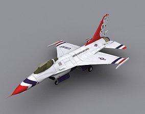 3D model F16 Thunderbird