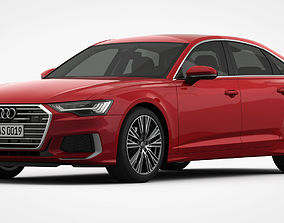 Audi A6 S-Line 2019 Detailed Interior 3D model