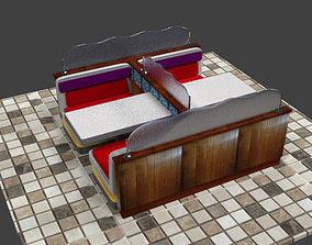 Diner Booth 3D model