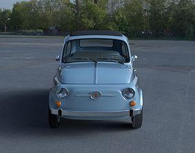 3D Fiat 500 Nuova 1957 with interior HDRI