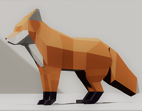 Fox lowpoly Low-poly 3D model realtime