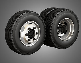 Medium Duty Trucks Tires and Rims 3D model