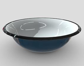 Enamel Bowl 3 3D asset