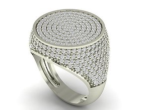 3D print model silver pave wedding ring