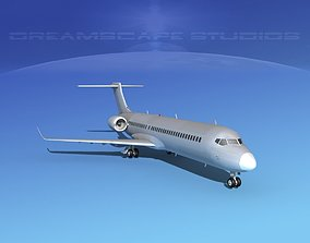 Comac ARJ21-700 Bare Metal 3D